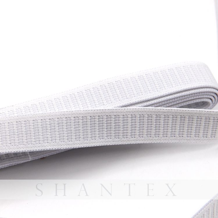 White Woven Elastic Webbing Knit Non-roll Elastic Band