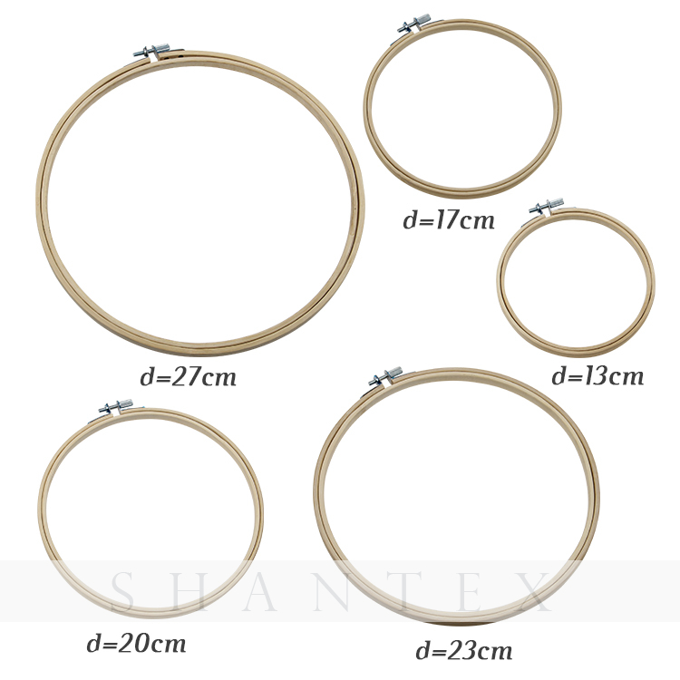 Round Natural Bamboo Embroidery Hoop For Cross Stitch
