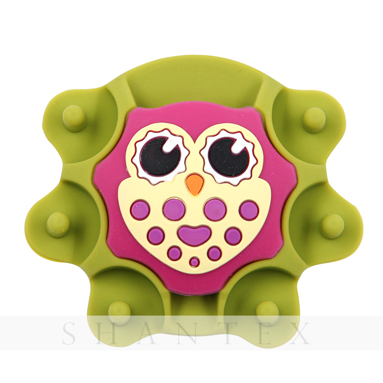 Rubber Household Owl Shaped Sewing Pin Cushion Sucker Scissors Holder