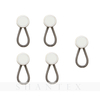 Quick Fitting Collar Button Extenders in Different Colors Crystal-set with Elastic in The Spring