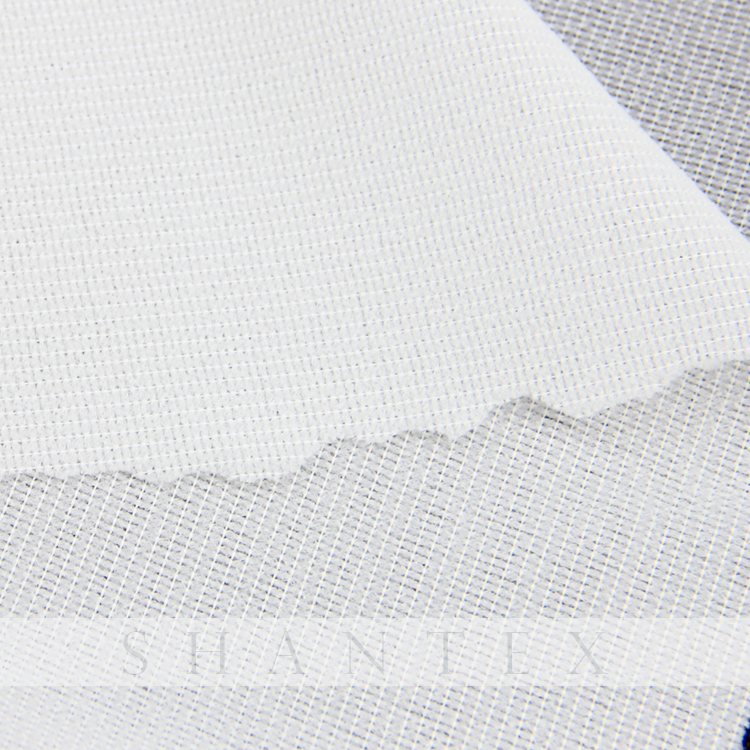 White and Black Woven Interlining Fabric Fusible Interfacing For Men's Suits