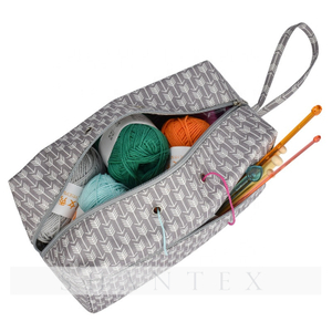 Square Large Knitting Wool Yarn Organizer Bag