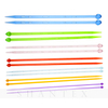 Plastic Needle Knitting Tool Sweater Needle Single Point with Bead Pin A Pointed Rod for Beginners