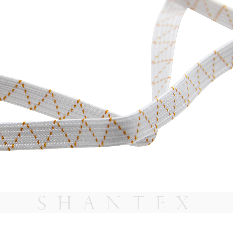 6 mm Latex And Polyester Braided Elastic Tape for Garment Clothing