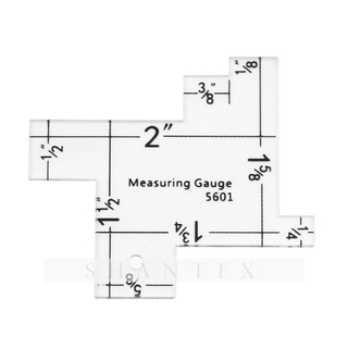 Tailor Plastic Measuring Tool Sewing Gauge Ruler for Quilting
