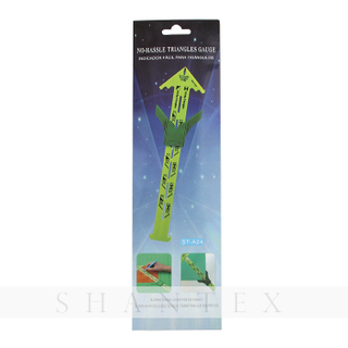 No-Hassle Triangles Sewing Gauge Measuring Sewing Tool Quilt Ruler