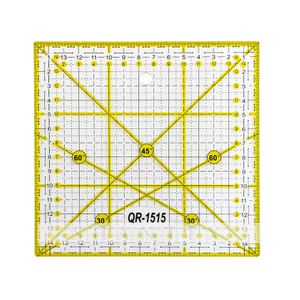 ECO-Friendly Acrylic Square Patchwork Quilting Transparent Acrylic Quilting And Sewing Ruler for Home Sewing